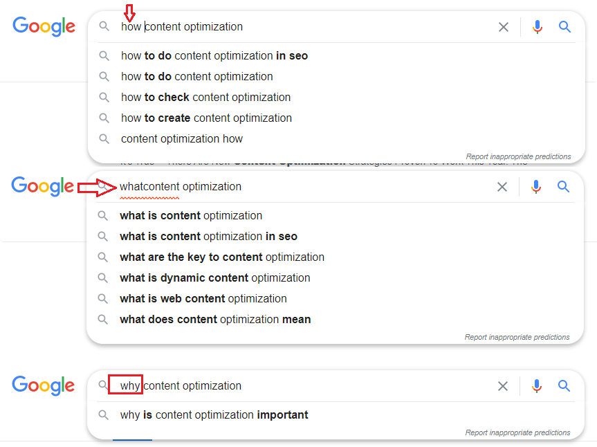 How content optimization
