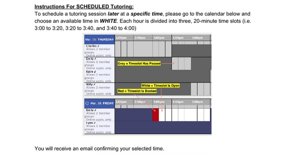 Math Science Mywc Scheduled Instructions Google Docs