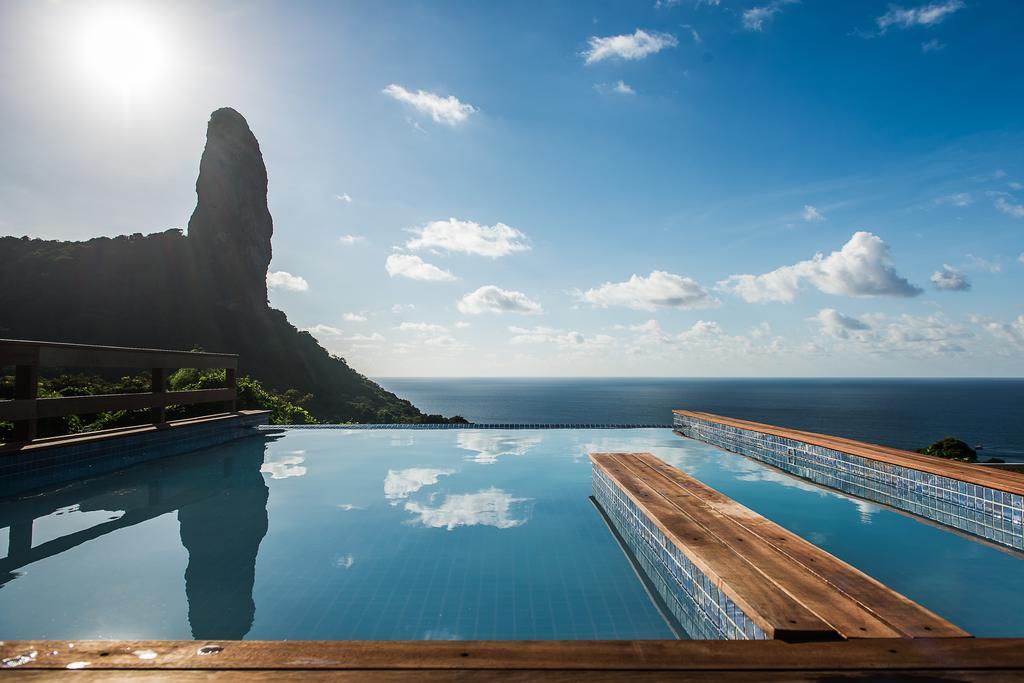 Vista da piscina da Pousada Filó