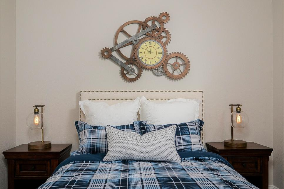 Steampunk Wall ClockAbove the Bed