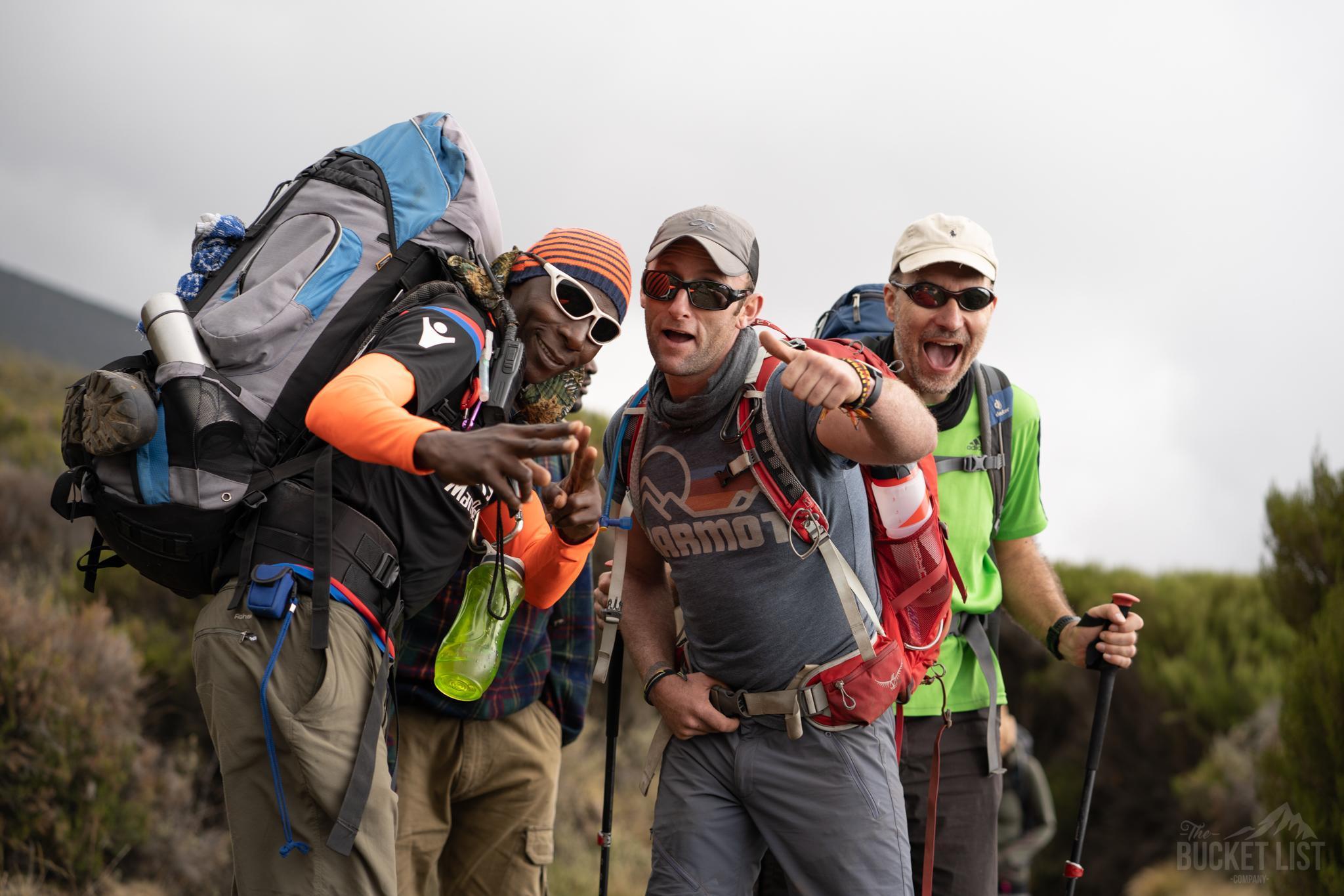 Happy trekker posing for the camera