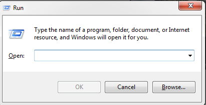 Open run dialog box With Keyboard Shortcut