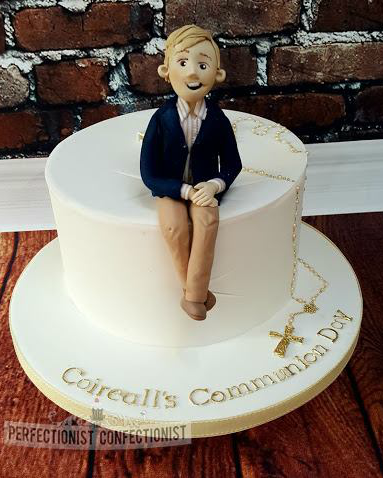 boys Communion cake example