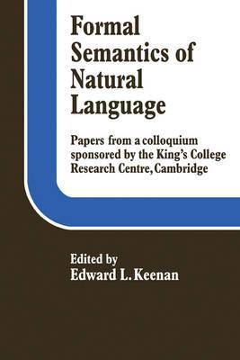 Formal Semantics of Natural Language