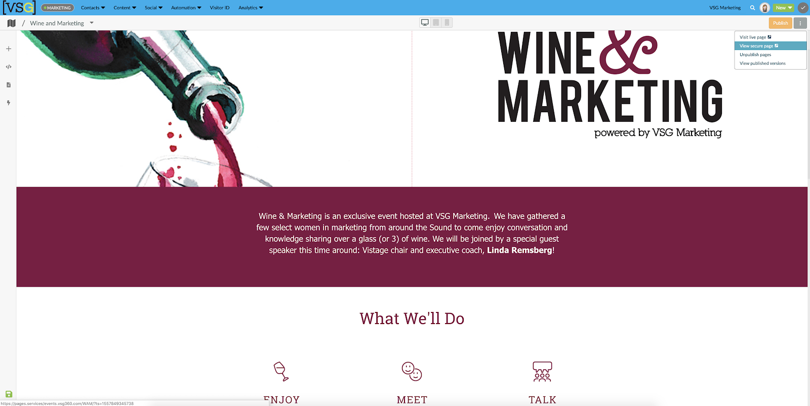 Wine and Marketing VSG