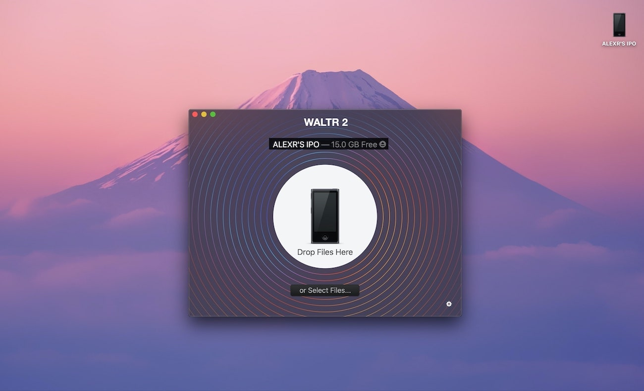 put music on iPod using WALTR