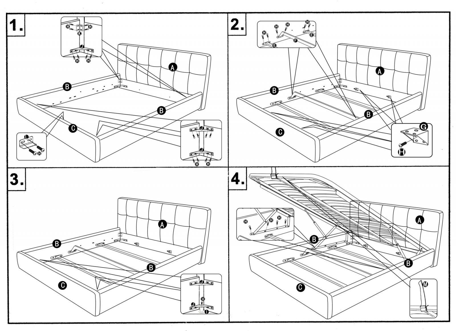 Сборка кровати с подъемным механизмом своими руками