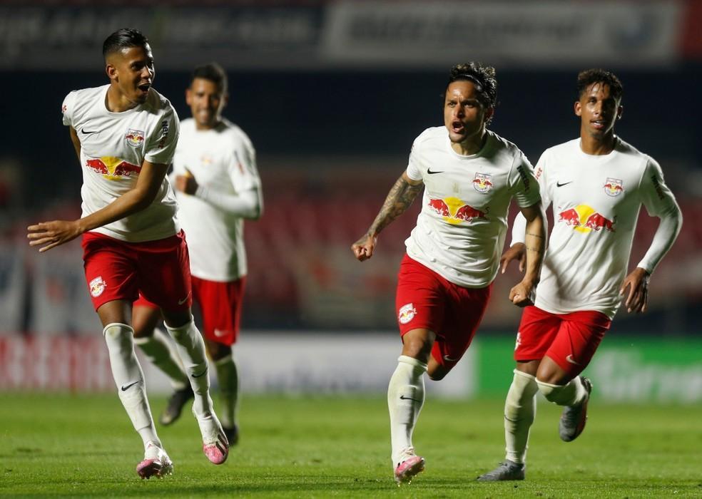 Artur comemora gol do Bragantino contra o São Paulo — Foto: Ari Ferreira/Red Bull Bragantino