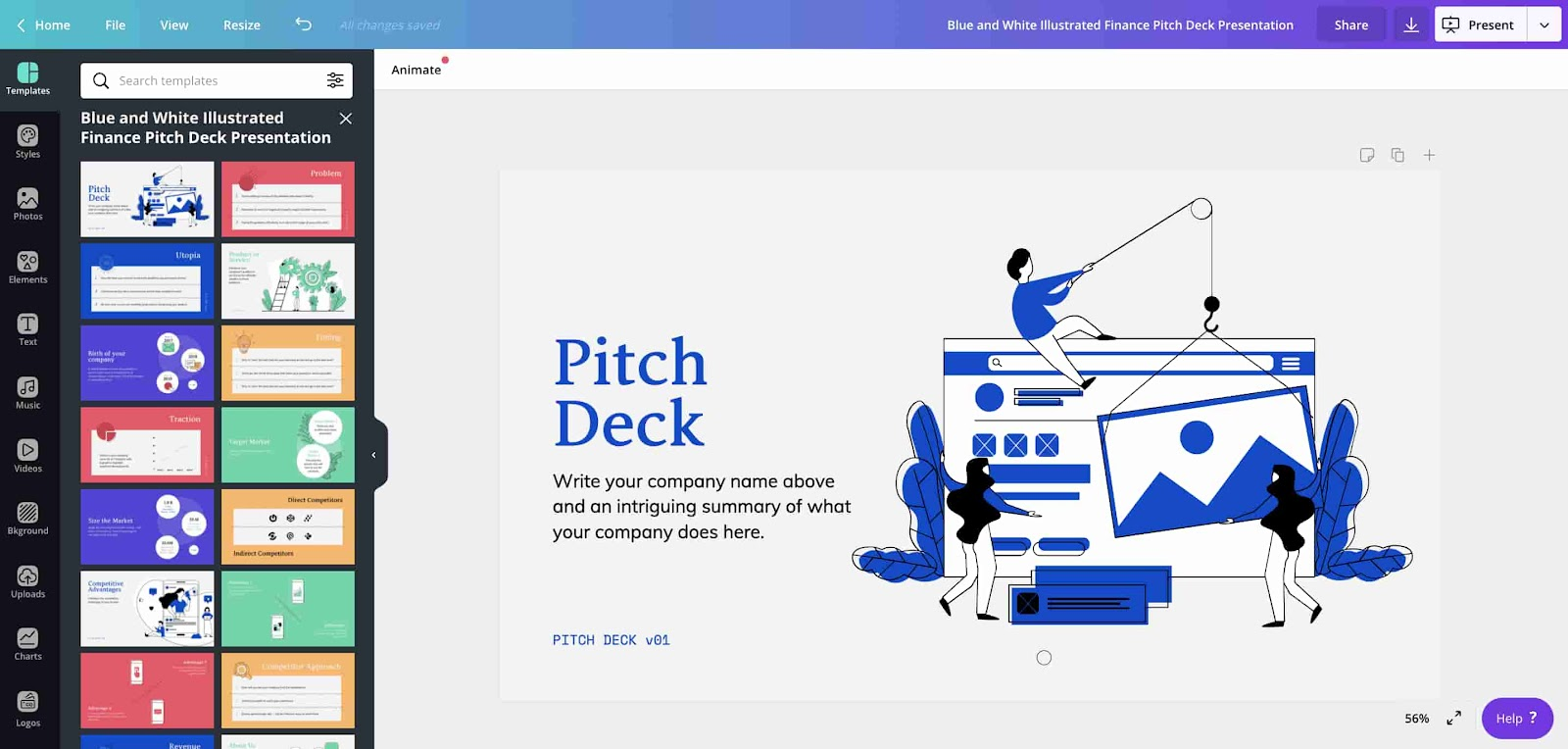 Pitch deck canva