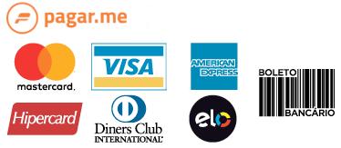 Resultado de imagem para Visa, Mastercard, American Express, Elo, Hipercard, Diners, Discover, Aura e JCB.
