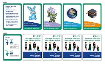 Cartes Alloprof - Pour les élèves du primaire - Réservé aux enseignants - 30 cartes dans un paquet - Maximum 1 paquet de cartes par classe