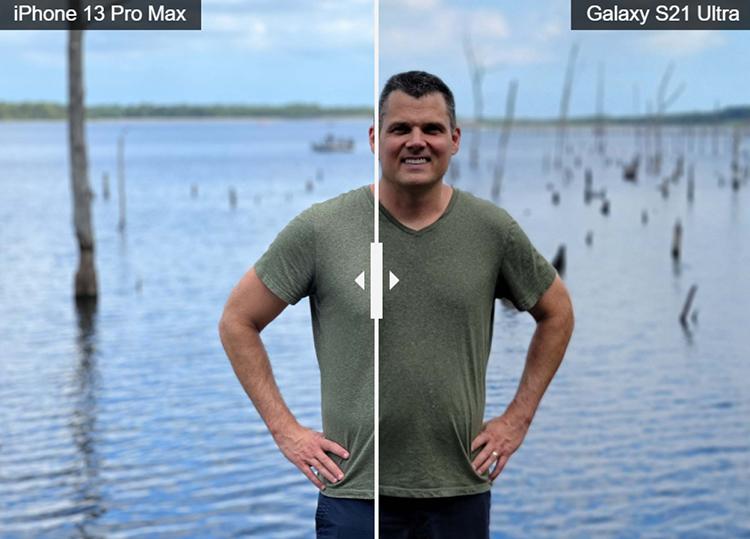 Ảnh chụp chân dung khi so sánh với Galaxy S21 Ultra