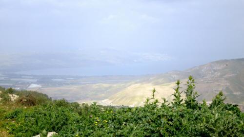 Umm Qais med udsigt over Tiberia søen