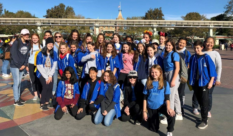 A.E. Wright Middle School students on a field trip