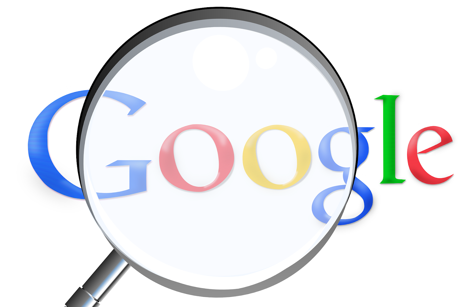 Magnify glass on Google