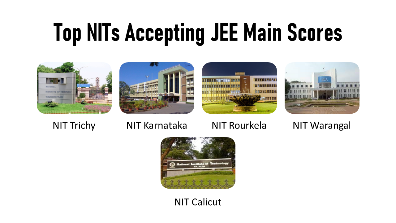 NITs accepting JEE Main Scores