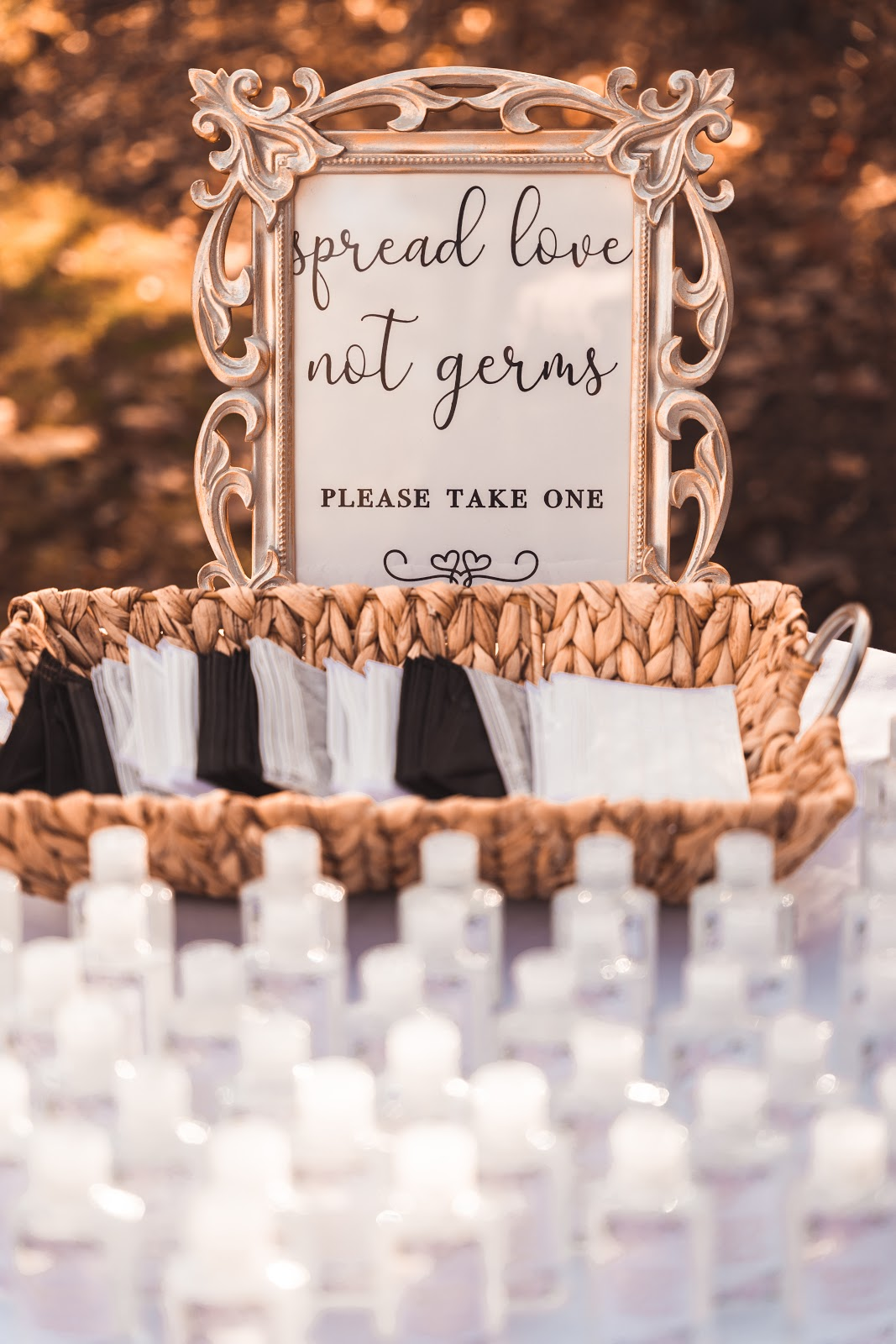 personalized hand sanitizer for wedding