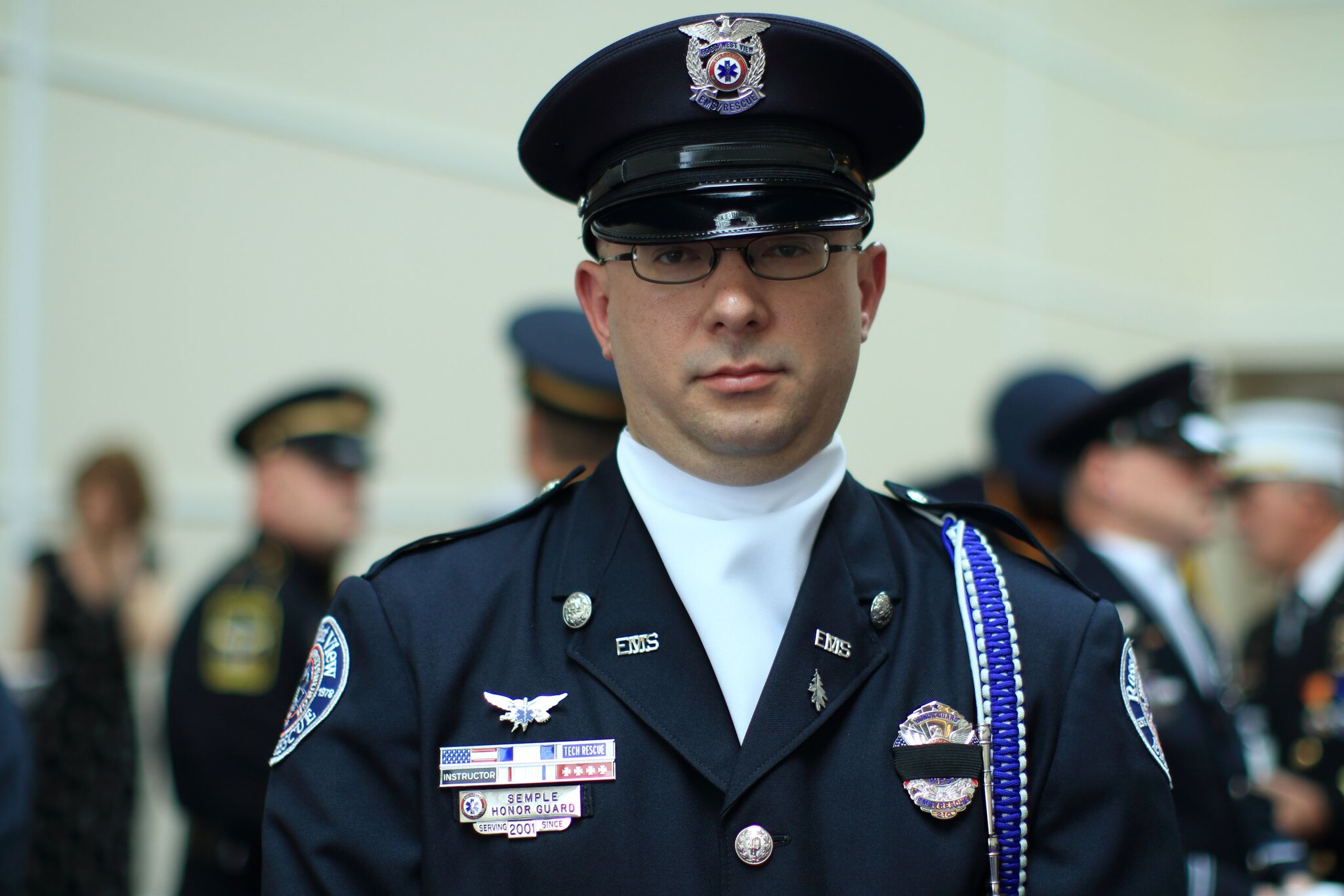 A firefighter in uniform