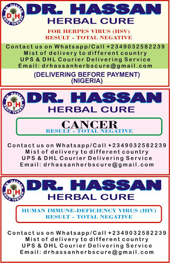 Dr Hassan Herbal cure for: Herpes Virus,Cancer,HIV/AIDS,ALS