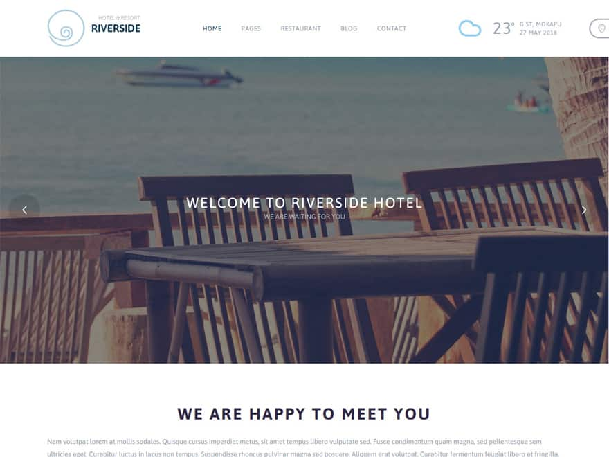 Riverside - WordPress Hotel and Resort Themes