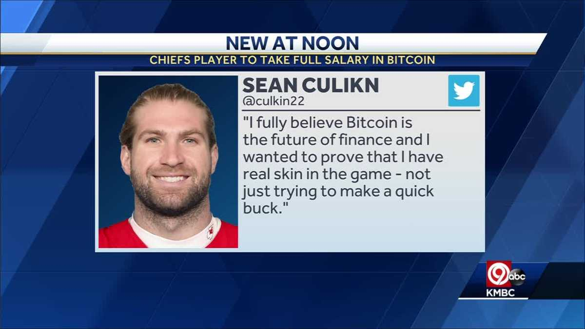 Kansas City Chiefs tight end Sean Culkin becomes first NFL player to  convert entire salary into Bitcoin