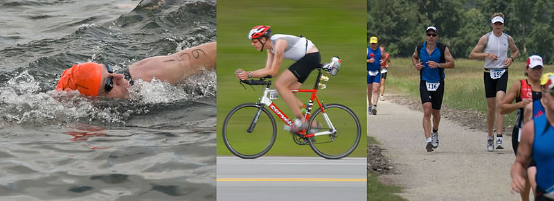 of triathlon: swimming,
