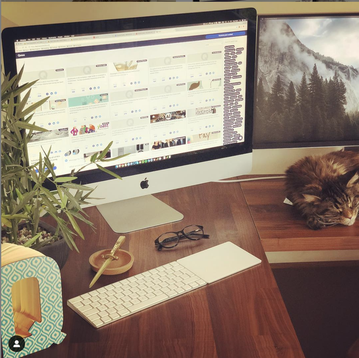 A remote worker's home office