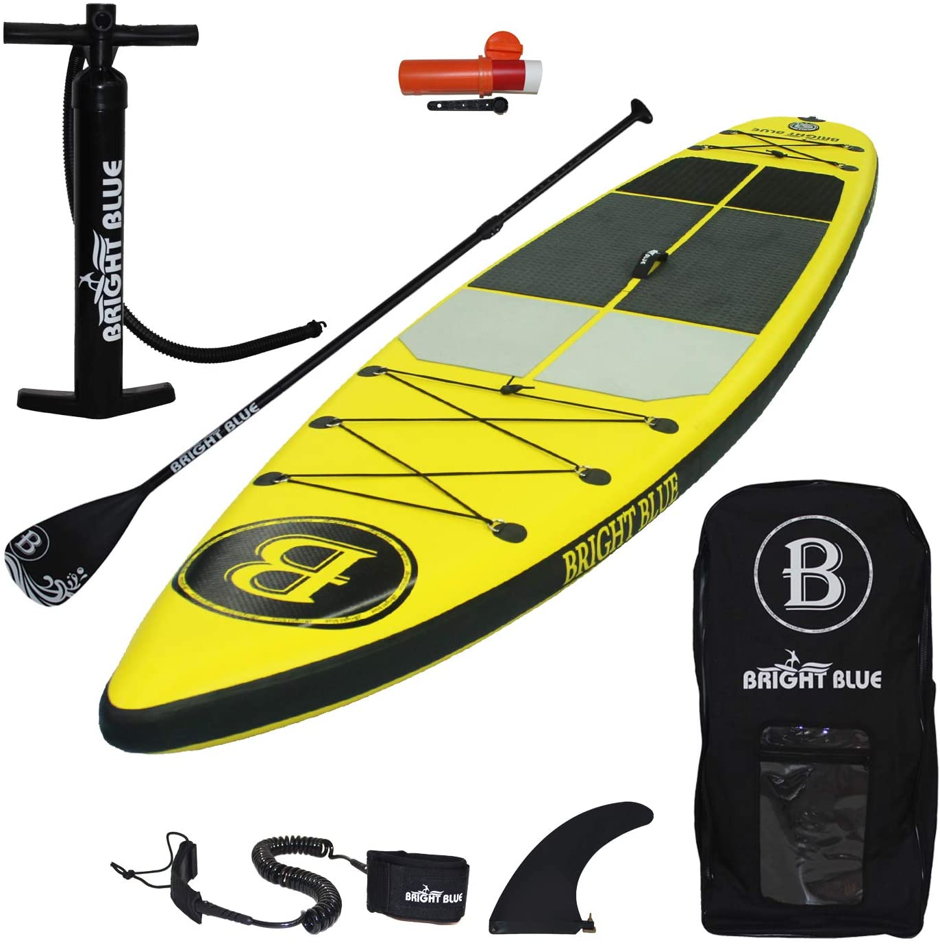"""Best inflatable paddle boards: Bright Blue Reinforced Double Layer 11'6"""" Inflatable Stand Up Paddle Board"""