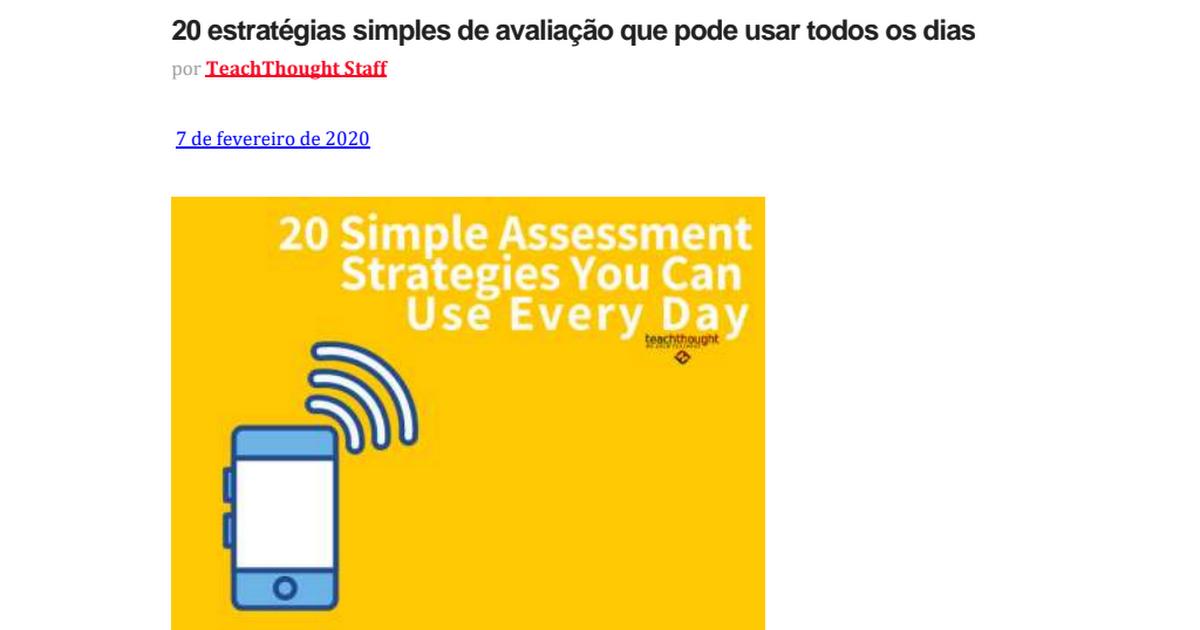20 estratégias simples de avaliação que você pode usar todos os dias.pdf