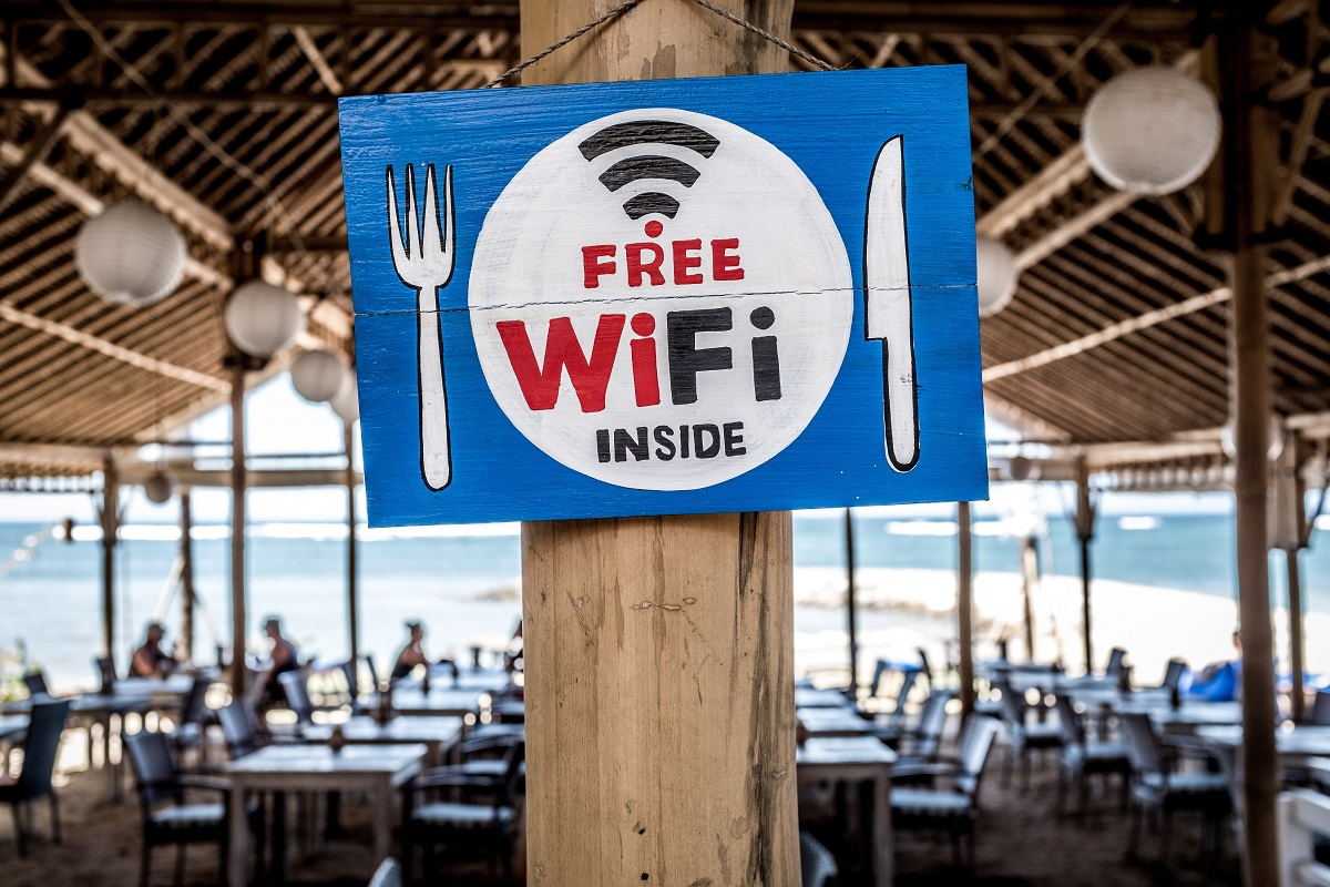 Free Public Wifi Hotspot at a local cafe