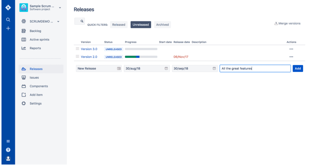 Jira release management software