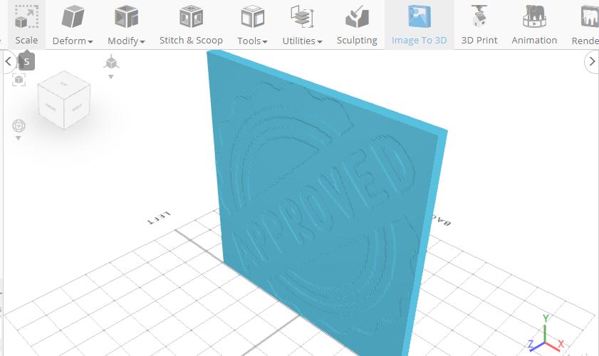3D design a stamp in a 3D modeling software