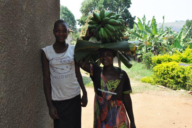 Villagers in Daniel's village in the Ntangamo region