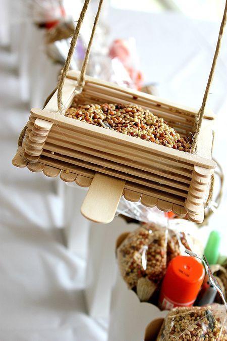 DIY Popsicle Stick feeder house