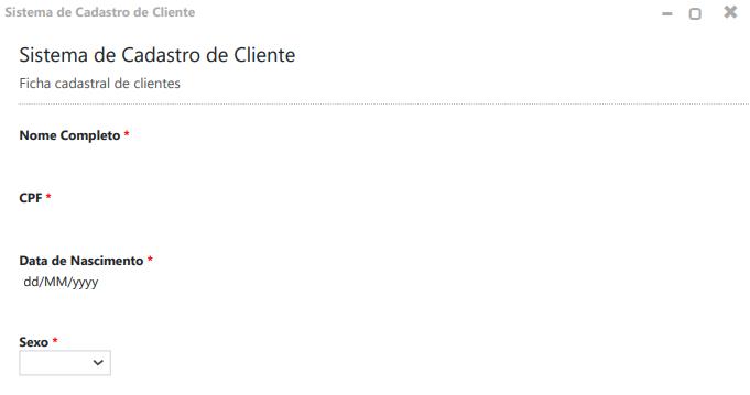 Confira como usar o sistema de cadastro de clientes.