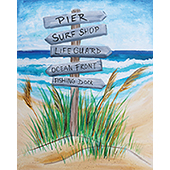 canvas painting design - Beach, This Way!