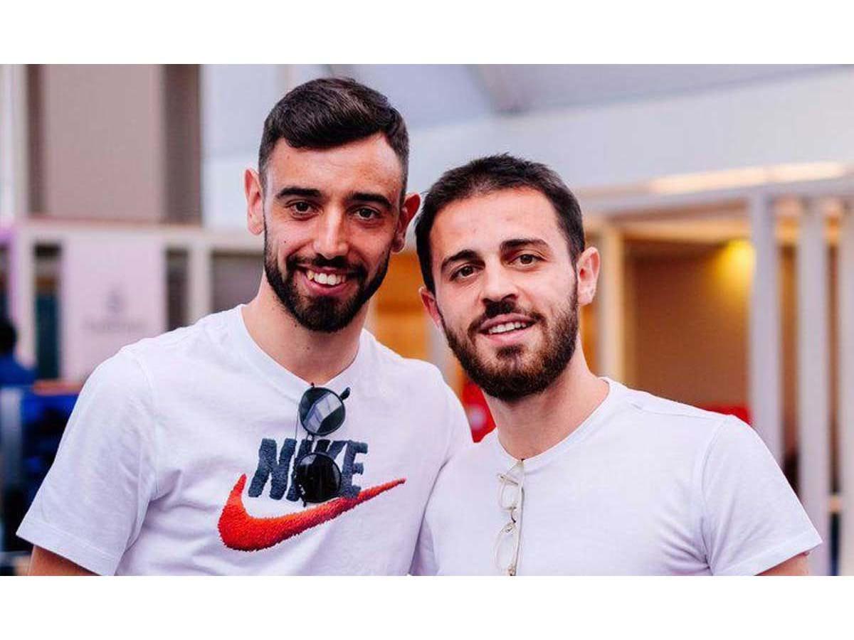 Bruno Fernandes and Bernardo Silva
