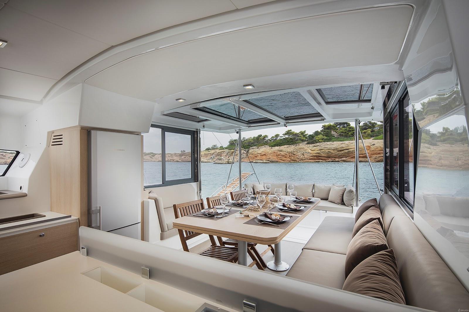 Kitchen on the Sunreef 50 Catamaran