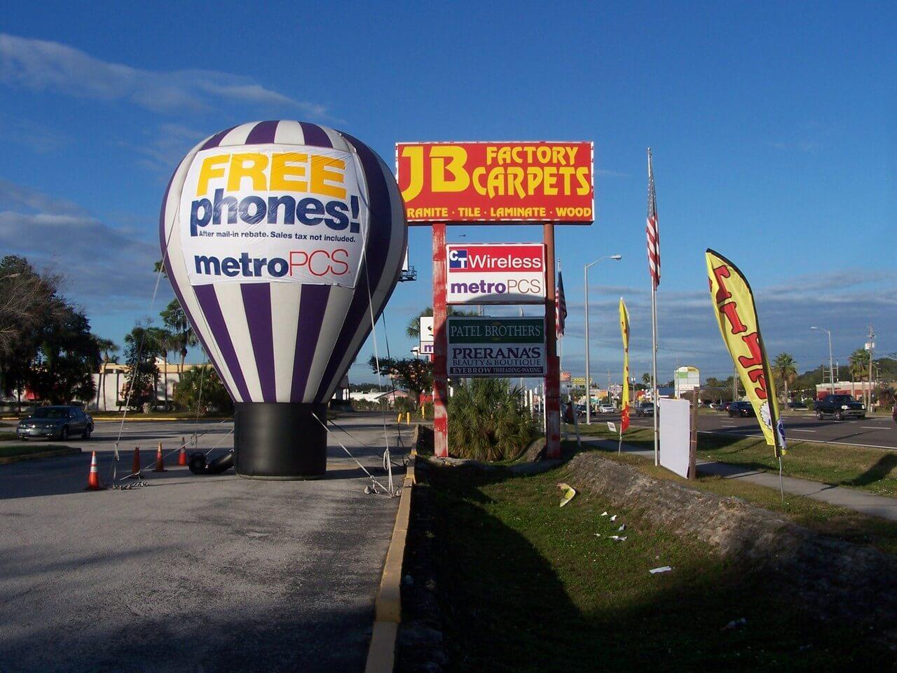 hot air balloon signage