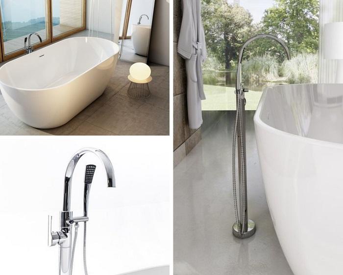 Напольный смеситель для ванны Равак: 3 функциональных варианта