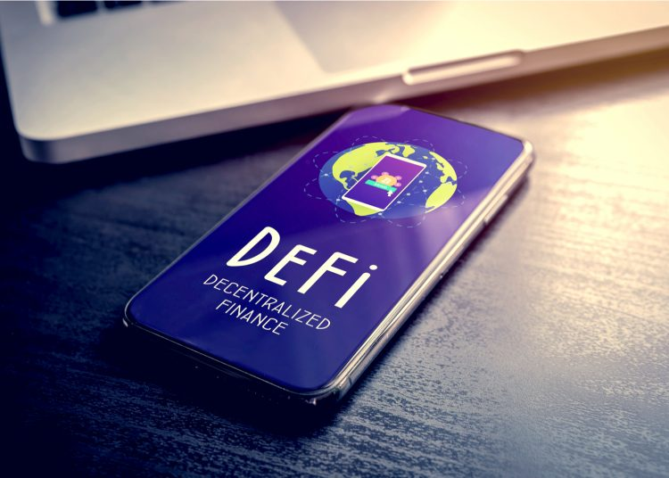 DeFi decentralized finance.