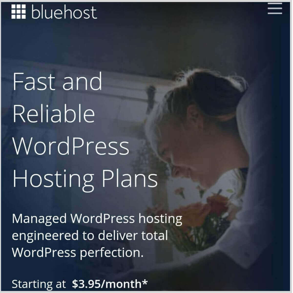 Bluehost frontpage