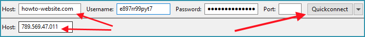How to connect through FTP with Filezilla client