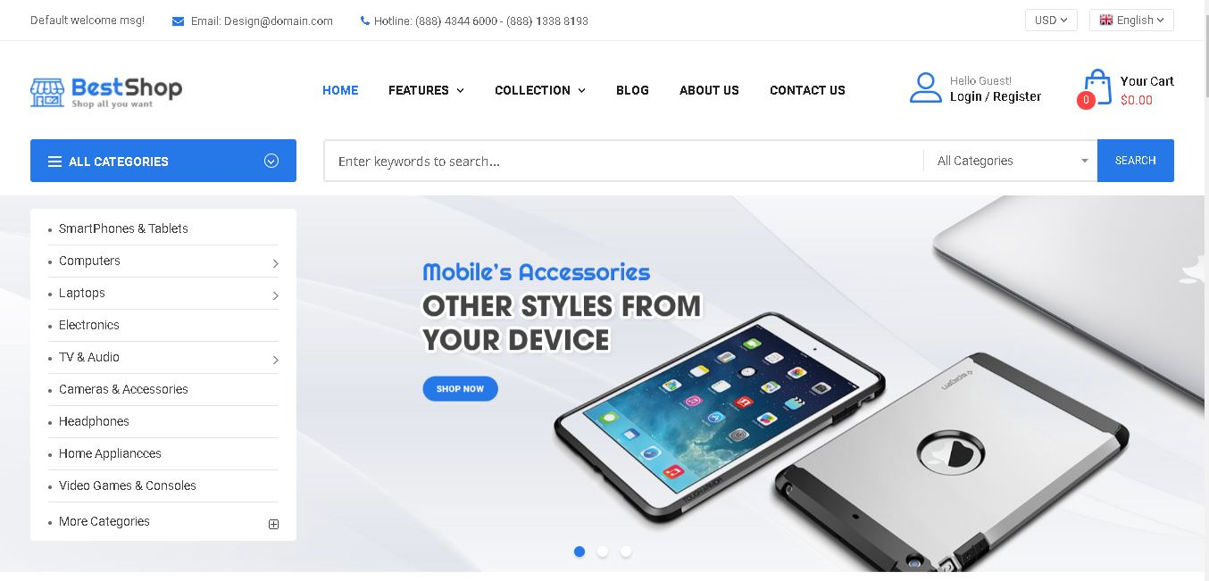 Digital products magento theme bestshop