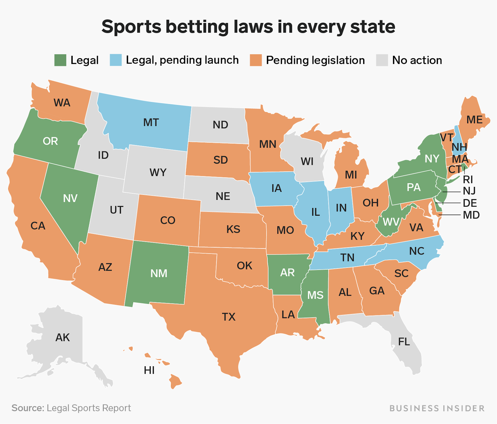 States Where Online Betting is Legal In America