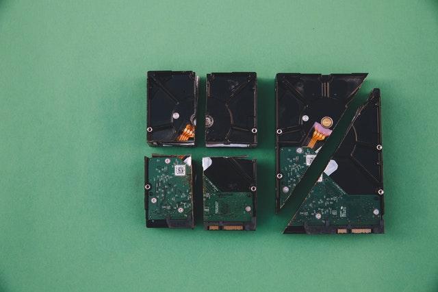 Split and cut hard drives hdd