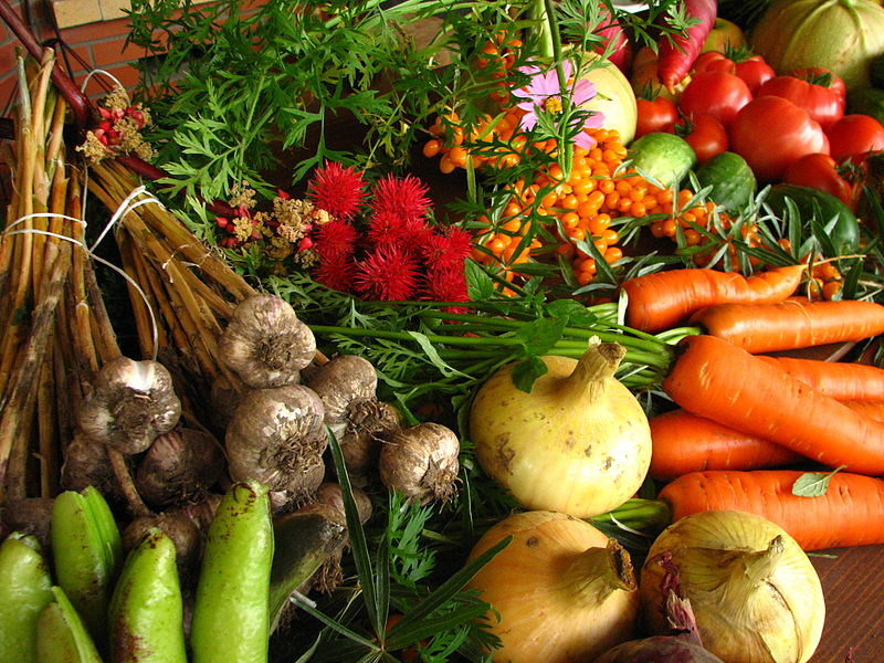 How to be self sufficient - selection of colourful vegetables