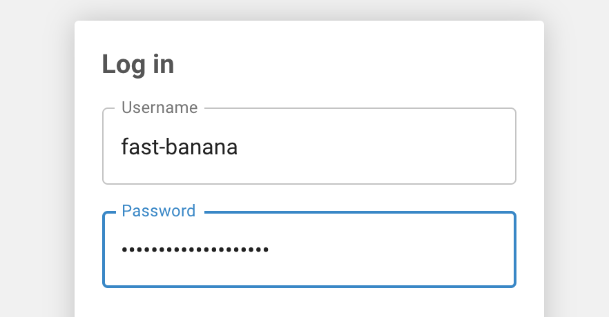 Creating a strong password for access to your SFTP site.