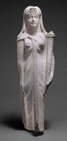 Image of a Statue of a Ptolemaic Queen, perhaps Cleopatra VII, 200-30 BC (dolomitic limestone), Egyptian Ptolemaic Period (332-30 BC) / Egyptian, Metropolitan Museum of Art, New York, USA, © Bridgeman Images