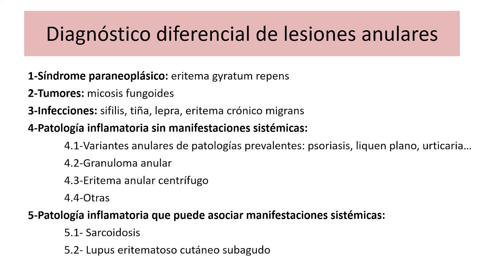 lesiones anulares diagnóstico diferenial